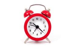 Κόκκινο ρολόι συναγερμών Στοκ Εικόνες
