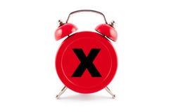 Κόκκινο ρολόι συναγερμών Στοκ φωτογραφίες με δικαίωμα ελεύθερης χρήσης