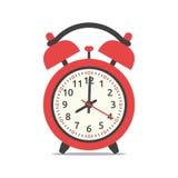 Κόκκινο ρολόι συναγερμών διανυσματική απεικόνιση