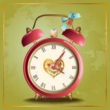 Κόκκινο ρολόι Στοκ Εικόνες