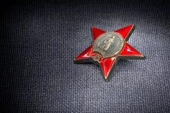 κόκκινο ρωσικό αστέρι κατά&t Στοκ Φωτογραφίες