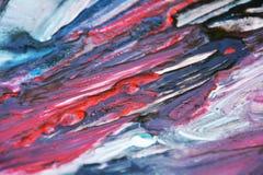 Κόκκινο ρόδινο μπλε σκοτεινό χρώμα watercolor, μαλακά χρώματα μιγμάτων, υπόβαθρο σημείων ζωγραφικής, ζωηρόχρωμο αφηρημένο υπόβαθρ Στοκ Φωτογραφίες
