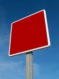 κόκκινο σήμα Στοκ φωτογραφίες με δικαίωμα ελεύθερης χρήσης