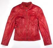 Κόκκινο σακάκι δέρματος Στοκ Εικόνα