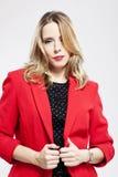 Κόκκινο σακάκι Στοκ εικόνα με δικαίωμα ελεύθερης χρήσης