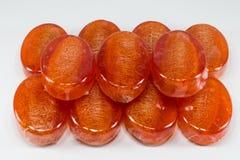 Κόκκινο σαπούνι loofha Στοκ φωτογραφία με δικαίωμα ελεύθερης χρήσης