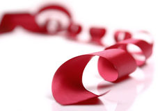 κόκκινο σατέν κορδελλών Στοκ εικόνα με δικαίωμα ελεύθερης χρήσης