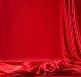 Κόκκινο σατέν Στοκ Εικόνα