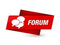 Κόκκινο σημάδι ετικεττών ασφαλίστρου φόρουμ (εικονίδιο σχολίων) ελεύθερη απεικόνιση δικαιώματος