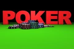 κόκκινο σημάδι πόκερ Στοκ Εικόνες