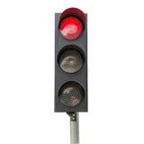 Κόκκινο σημάτων κυκλοφορίας που απομονώνεται Στοκ Εικόνα