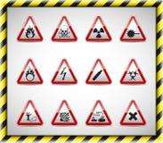 Κόκκινο σημάδι κινδύνου Triangel Στοκ Εικόνες
