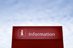 Κόκκινο σημάδι πληροφοριών Στοκ Εικόνες