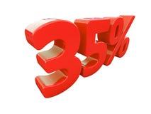 Κόκκινο σημάδι τοις εκατό που απομονώνεται Στοκ Εικόνες