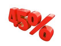 Κόκκινο σημάδι τοις εκατό που απομονώνεται Στοκ Φωτογραφία