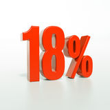 18 κόκκινο σημάδι τοις εκατό Στοκ φωτογραφίες με δικαίωμα ελεύθερης χρήσης
