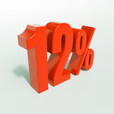 12 κόκκινο σημάδι τοις εκατό Στοκ φωτογραφίες με δικαίωμα ελεύθερης χρήσης