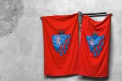 κόκκινο σημαιών Στοκ φωτογραφία με δικαίωμα ελεύθερης χρήσης