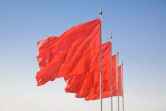 κόκκινο σημαιών στοκ εικόνες με δικαίωμα ελεύθερης χρήσης