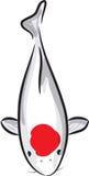 κόκκινο σημείο koi κυπρίνων &epsil απεικόνιση αποθεμάτων