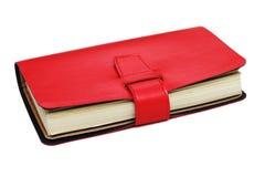 Κόκκινο σημειωματάριο δέρματος Στοκ φωτογραφία με δικαίωμα ελεύθερης χρήσης