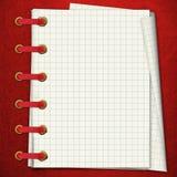 κόκκινο σημειωματάριων Ελεύθερη απεικόνιση δικαιώματος