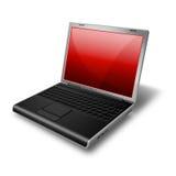 κόκκινο σημειωματάριων lap-top Στοκ εικόνα με δικαίωμα ελεύθερης χρήσης