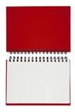κόκκινο σημειώσεων βιβλί& Στοκ φωτογραφίες με δικαίωμα ελεύθερης χρήσης