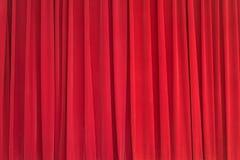 Κόκκινο σκηνικό κουρτινών βελούδου στο στάδιο Στοκ Εικόνες