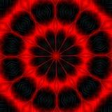 Κόκκινο σκοτεινό αφηρημένο flowery σχέδιο Στοκ Εικόνες