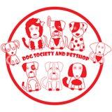 Κόκκινο σκυλί γραμματοσήμων Στοκ εικόνες με δικαίωμα ελεύθερης χρήσης