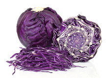 Κόκκινο σκωτσέζικο κατσαρό λάχανο Στοκ Φωτογραφία