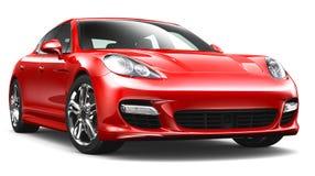 Κόκκινο σπορ αυτοκίνητο Στοκ Εικόνες