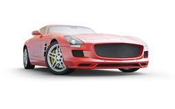 Κόκκινο σπορ αυτοκίνητο coupe στο άσπρο υπόβαθρο διανυσματική απεικόνιση