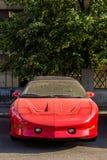 κόκκινο σπορ αυτοκίνητο 90 ` s Στοκ εικόνες με δικαίωμα ελεύθερης χρήσης