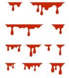 Κόκκινο στάζοντας χρώμα, στο άσπρο υπόβαθρο απεικόνιση αποθεμάτων