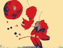 Κόκκινο στα φύλλα στοκ φωτογραφία