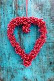 Κόκκινο στεφάνι καρδιών Στοκ φωτογραφία με δικαίωμα ελεύθερης χρήσης