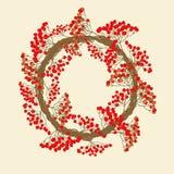 Κόκκινο στεφάνι σορβιών Στοκ Εικόνες