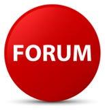 Κόκκινο στρογγυλό κουμπί φόρουμ απεικόνιση αποθεμάτων
