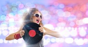 κόκκινο συμβαλλόμενων μερών κοριτσιών disco Στοκ Εικόνα