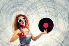 κόκκινο συμβαλλόμενων μερών κοριτσιών disco Στοκ φωτογραφία με δικαίωμα ελεύθερης χρήσης