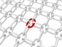 κόκκινο συνδέσεων αλυσί Στοκ φωτογραφία με δικαίωμα ελεύθερης χρήσης