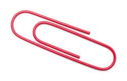 Κόκκινο συνδετήρων εγγράφου Στοκ φωτογραφία με δικαίωμα ελεύθερης χρήσης