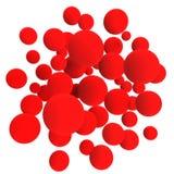 κόκκινο σφαιρών Στοκ Εικόνες