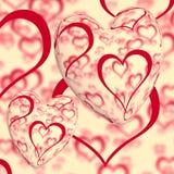 Κόκκινο σχέδιο καρδιών διανυσματική απεικόνιση
