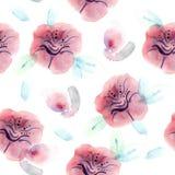 Κόκκινο σχέδιο λουλουδιών Στοκ Εικόνες