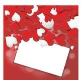 Κόκκινο σχέδιο καρδιών με μια θέση για την επιγραφή διανυσματική απεικόνιση