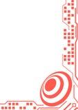Κόκκινο σχέδιο υποβάθρου τεχνολογίας Στοκ Εικόνες