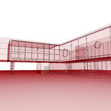 Κόκκινο σχεδιάγραμμα στο λευκό Στοκ εικόνα με δικαίωμα ελεύθερης χρήσης